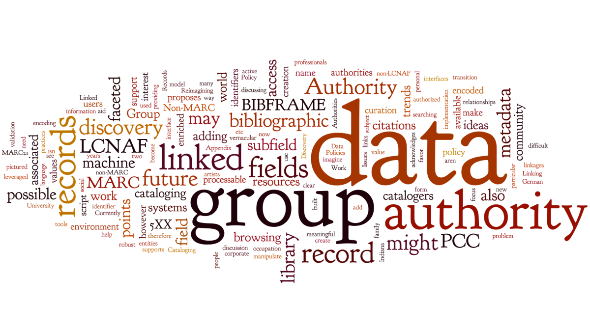 Wordle generated from a recently written report
