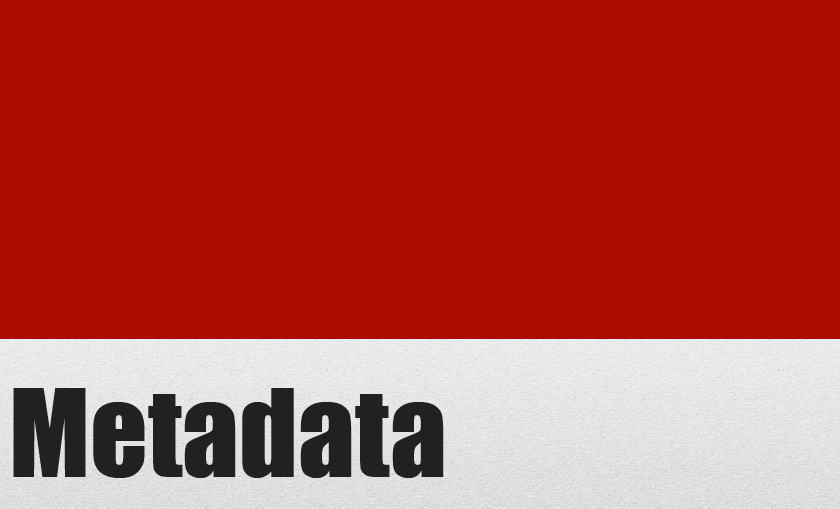 "Image displays the word ""Metadata"""